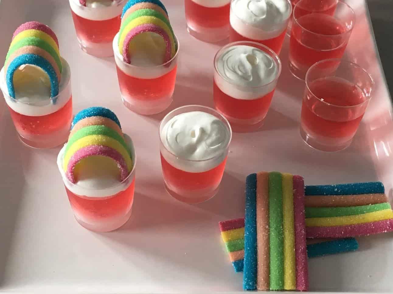 gelatina de colores para niños
