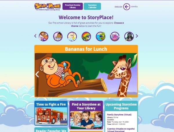 un lugar con cuentos infantiles digitales gratis