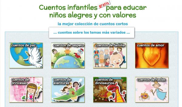 portal de cuentos infantiles gratis para niños