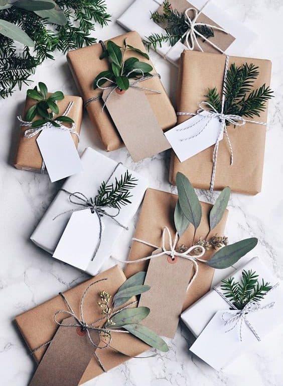 ideas para envolver regalos con papel craft