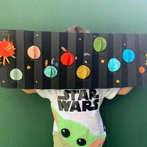 sistema solar para niños manualidad
