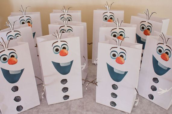 bolsas regalo cumpleaños frozen