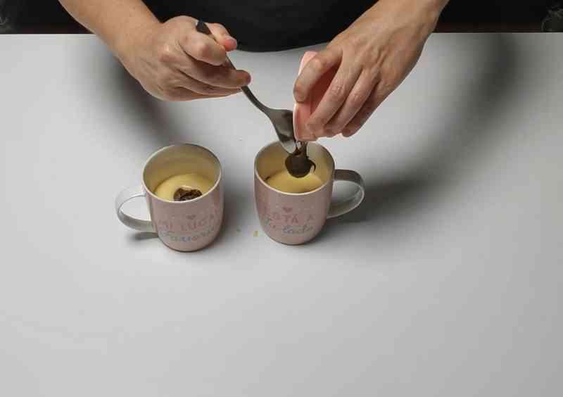 receta de mug cake con queso y nutella