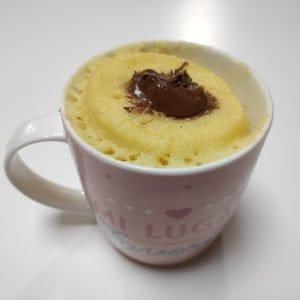 receta mugcake de nutella y queso